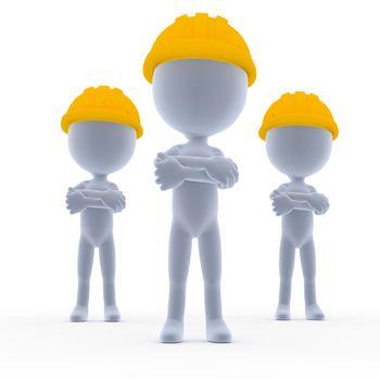 Builders, toon workers team