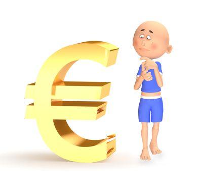Euro financial crisis concept