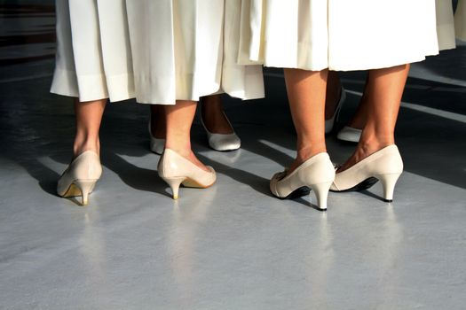 White Dresses and Shoes