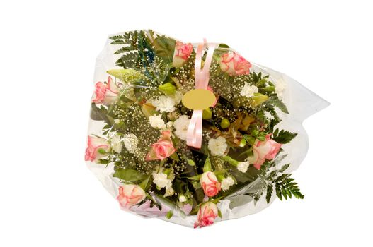 Flowers with blank lable
