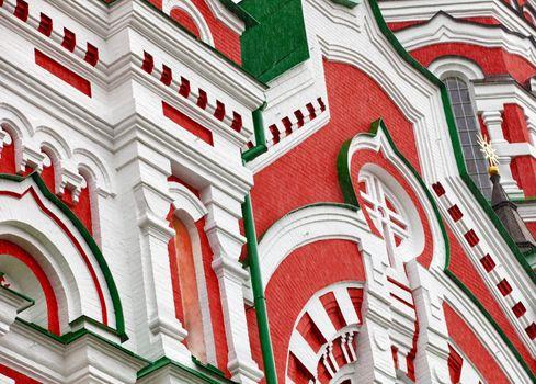 Walls of the orthodox church