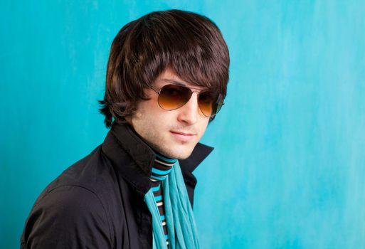 british indie pop rock look retro hip young man