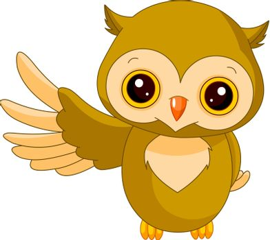 Fun zoo. Illustration of cute Owl