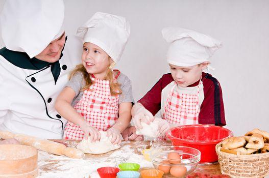 chef with children