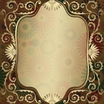 Vintage gold translucent frame