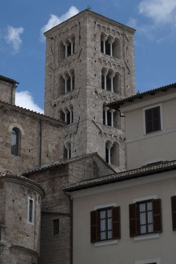 The bell tower of the duomo of anagni