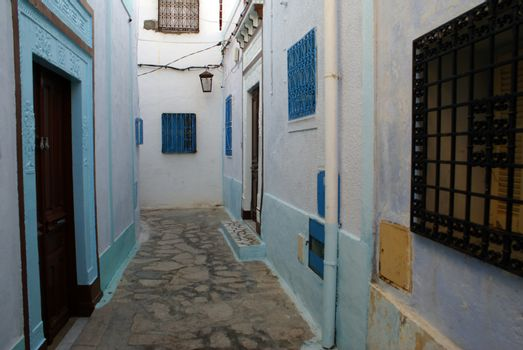 Small street in medina of Hammamet, Tunisia