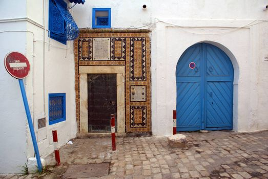 Medina in village Sido Bou Said, Tunisia