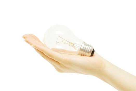bulb in hand