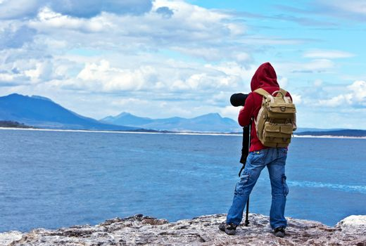Wildlife photographer traveler