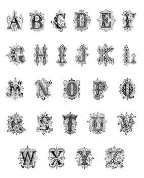Antique Decorative Alphabet
