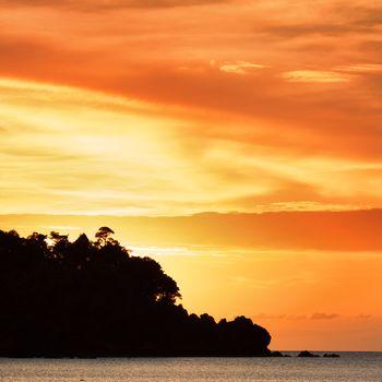 Sunset over Andaman Sea