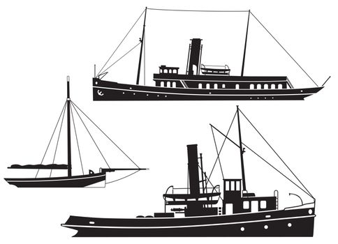 Steam ships and boats