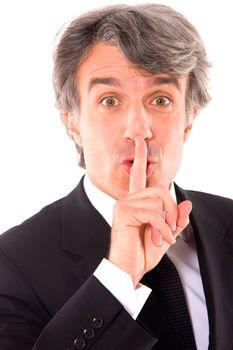 businessman silence
