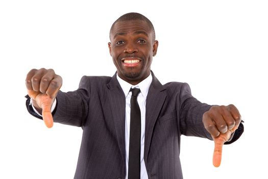 businessman with thumbs down