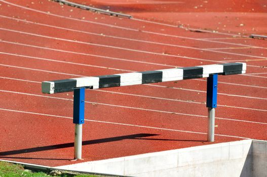 Hurdle in an Athletics Running Track