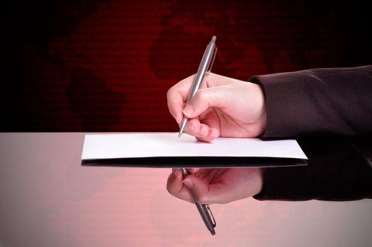 Businessperson Writing