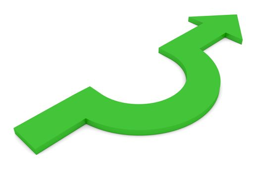 A Way Around - Green Curved Arrow