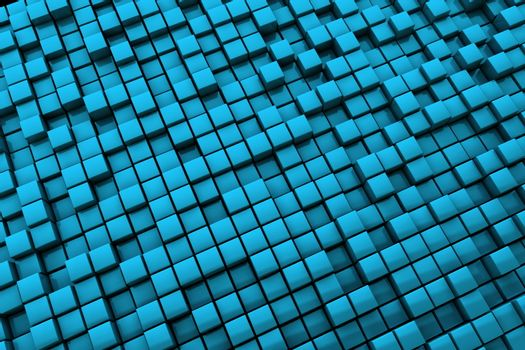 Abstract Blue Cubes Background - Long Distance