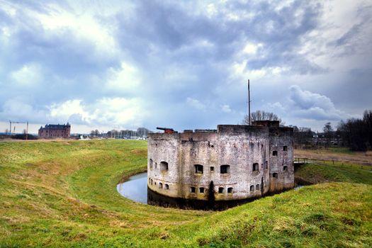 fortification ruins in Muiden
