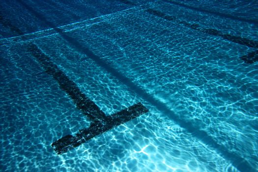 view of an empty pool. underwater view
