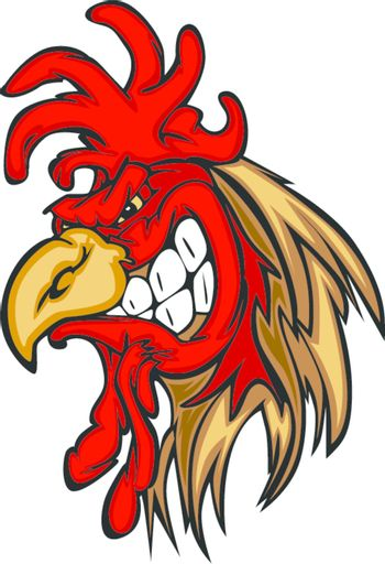 Rooster or Gamecock Mascot Cartoon