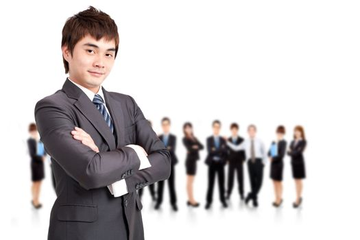successful  businessman  and business team