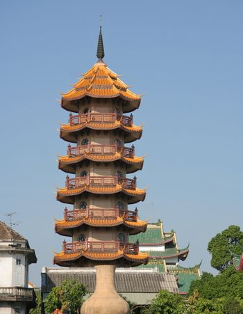 Pagoda in Chinese temple
