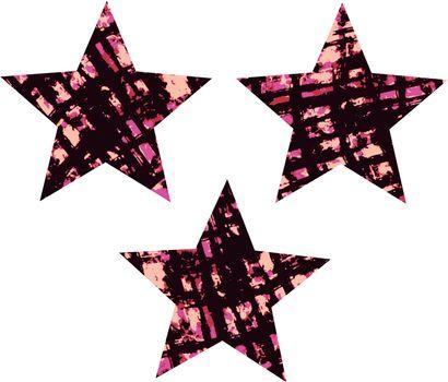 Grunge ink splat texture star