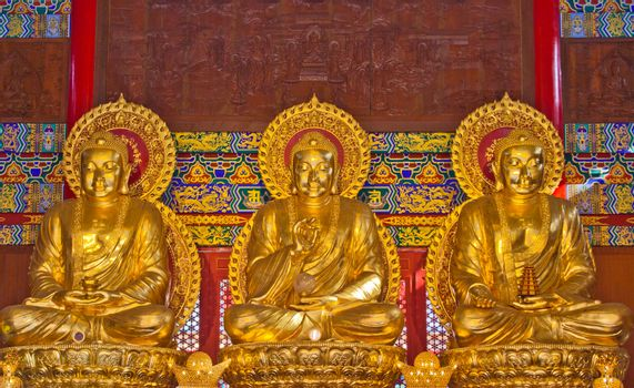 Golden Buddha statue in a temple