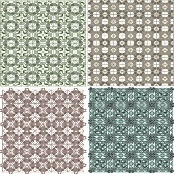 Morocco Seamless Patterns Background Abstract Vector Set
