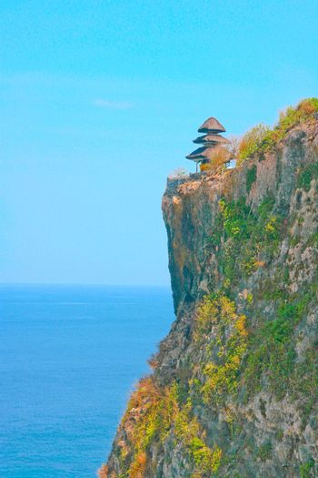 A hut on a cliff