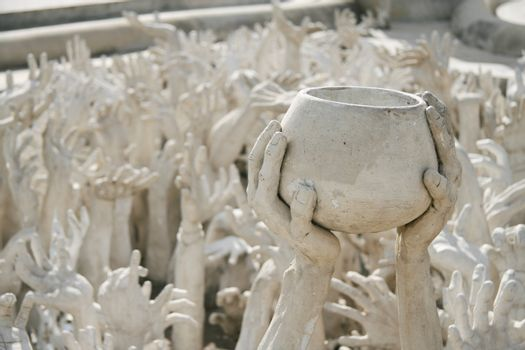 Hands sculpture frome hell