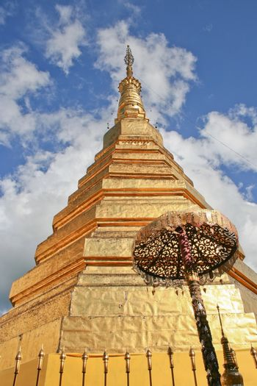 Golden pagoda at Doi Suthep, Thailand