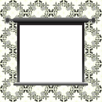 Blank billboard on floral wall for your advertisement vector background