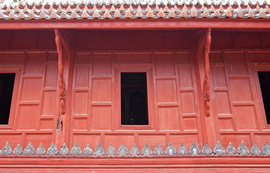 Window of a temple in Thailand