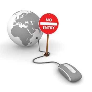 Surfing the Web in Grey - Blocked by a No Entry Sign