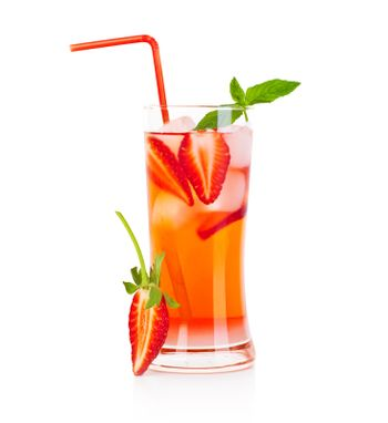 Red fruity cocktail