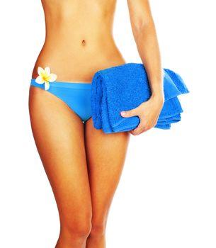 Perfect woman body in bikini