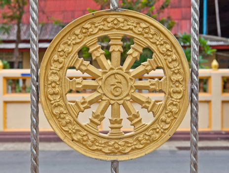 Buddhist wheel symbol