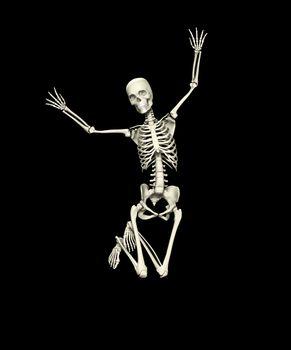 Happy Jumping Skeleton