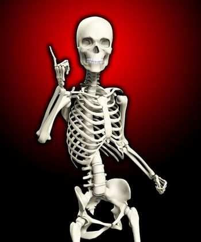 Quizzical Skeleton