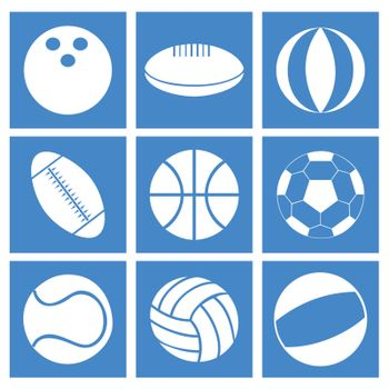 Set of balls for different kinds of sports. A vector illustration