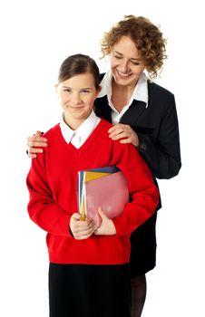 Teacher with teen student