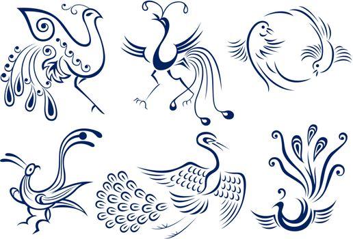 bird tattoo graphic design