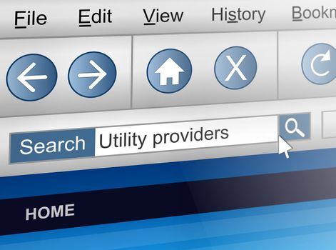Utility provider concept.