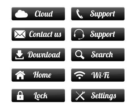 Rectangular web buttons