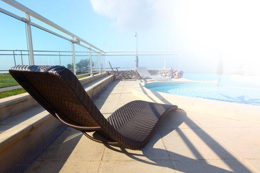 lounge at pool
