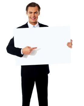 Male representative of a company