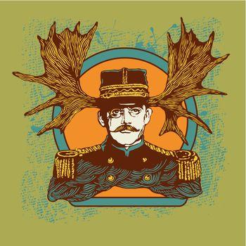 Horny officer